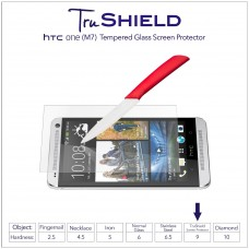 واقي شاشه زجاجي -استكر زجاج- اتش تي سي ون (ام7) HTC One M7 ماركة ترو شيلد TruShield وضوح عالي مقاوم التبقع