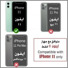 واقي شاشة زجاجي ايفون 11 / ايفون إكس آر iPhone 11 / iPhone XR ماركة تريانيوم Trianium استكر زجاج مع إطار التركيب متوافق مع الجرابات - 3 حبات