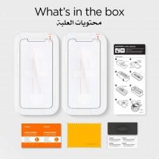 واقي شاشه زجاجي ايفون 11 / ايفون إكس آر iPhone 11 / iPhone XR ماركة سبايجن Spigen استكر زجاج تصميم جلاستر إي زد - 2 حبتين