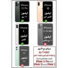 واقي شاشة زجاجي ايفون 11 برو / ايفون إكس / ايفون إكس اس iPhone 11 Pro / iPhone X / iPhone XS ماركة يو شيلد uShield استكر زجاجي لحفظ الخصوصية ضد التجسس مع إطار التركيب متوافق مع الجرابات - 3 حبات
