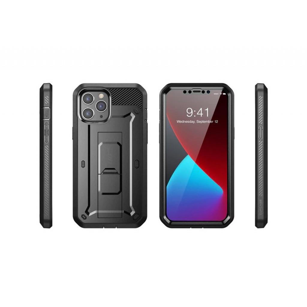 كفر ايفون 12 / 12 برو iPhone 12 / 12 Pro ماركة سبكيس SUPCASE كامل الجهاز 360 درجة تصميم يونيكورن بيتل برو - اسود