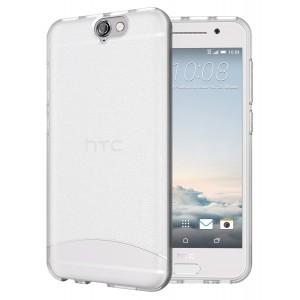 كفر اتش تي سي ون ايه 9 HTC One A9 ماركة توديا TUDIA مرن بالكامل - شفاف ثلجي