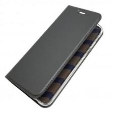 جراب جالكسي ايه 6 بلس (2018) Galaxy A6 Plus محفظة فليب مع ستاند ومكان للبطاقات - رمادي