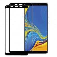 واقي شاشه زجاجي -استكر زجاج- جالكسي ايه 9 (2018) Galaxy A9 وضوح عالي مقاوم التبقع - لون الحواف اسود - حبتين