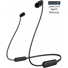 سماعات داخل الأذن لاسلكية ماركة سوني Sony, سماعة بلوتوث, متوافقة مع جميع الأجهزة, موديل: WI-C200 - اسود