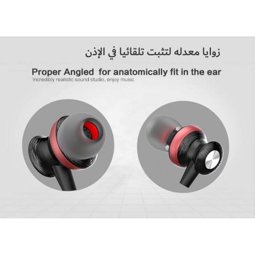 سماعات داخل الإذن لاسلكية ماركة اوي awei, سماعة بلوتوث, متوافقة مع جميع الأجهزة, موديل: A980BL - اسود