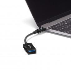 قطعة تحويل من شحن الأندرويد الحديث إلى منفذ يو اس بي عادي ماركة أمازون باسيك AmazonBasics, تحويل من منفذ يو اس بي سي USB-C إلى منفذ يو اس بي USB 3.0 - اسود