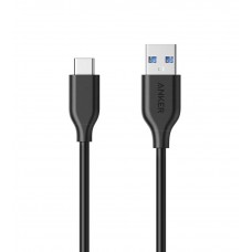 سلك شاحن تايب سي USB-C ماركة أنكر Anker بطول 0.9 متر لجميع الأجهزة بمنفذ يو اس بي سي سلك من يو اس بي إلى يو اس بي تايب سي - اسود