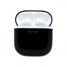 سماعات إيربودس لاسلكية بلوتوث ماركة هواريجور Huarigor متوافق مع جميع الأجهزة عبر البلوتوث مع ميكروفون مدمج - ابيض و اسود