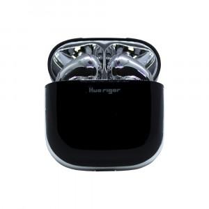 سماعات إيربودس لاسلكية بلوتوث ماركة هواريجور Huarigor متوافق مع جميع الأجهزة عبر البلوتوث مع ميكروفون مدمج - فضي و اسود