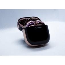 سماعات إيربودس لاسلكية بلوتوث ماركة هواريجور Huarigor متوافق مع جميع الأجهزة عبر البلوتوث مع ميكروفون مدمج - وردي و اسود