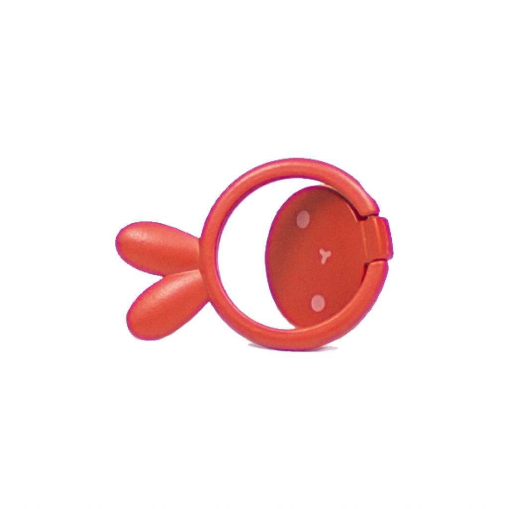 مسكة خاتم معدنيه للأجهزة الذكية, متوافق مع كل الجوالات والتابلت , متوافق مع الحوامل المغناطيسيه - احمر