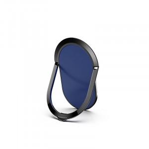 مسكة وستاند بيضاويه معدنيه للأجهزة الذكية, متوافق مع كل الجوالات والتابلت , متوافق مع الحوامل المغناطيسيه - ازرق