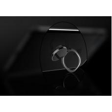 مسكة خاتم معدنيه للأجهزة الذكية, متوافق مع كل الجوالات والتابلت , متوافق مع الحوامل المغناطيسيه - فضي