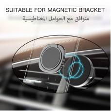 مسكة خاتم معدنيه للأجهزة الذكية, متوافق مع كل الجوالات والتابلت , متوافق مع الحوامل المغناطيسيه - وردي