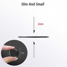 مسكة خاتم للأجهزة الذكية, متوافق مع كل الجوالات والتابلت , متوافق مع الحوامل المغناطيسيه - احمر