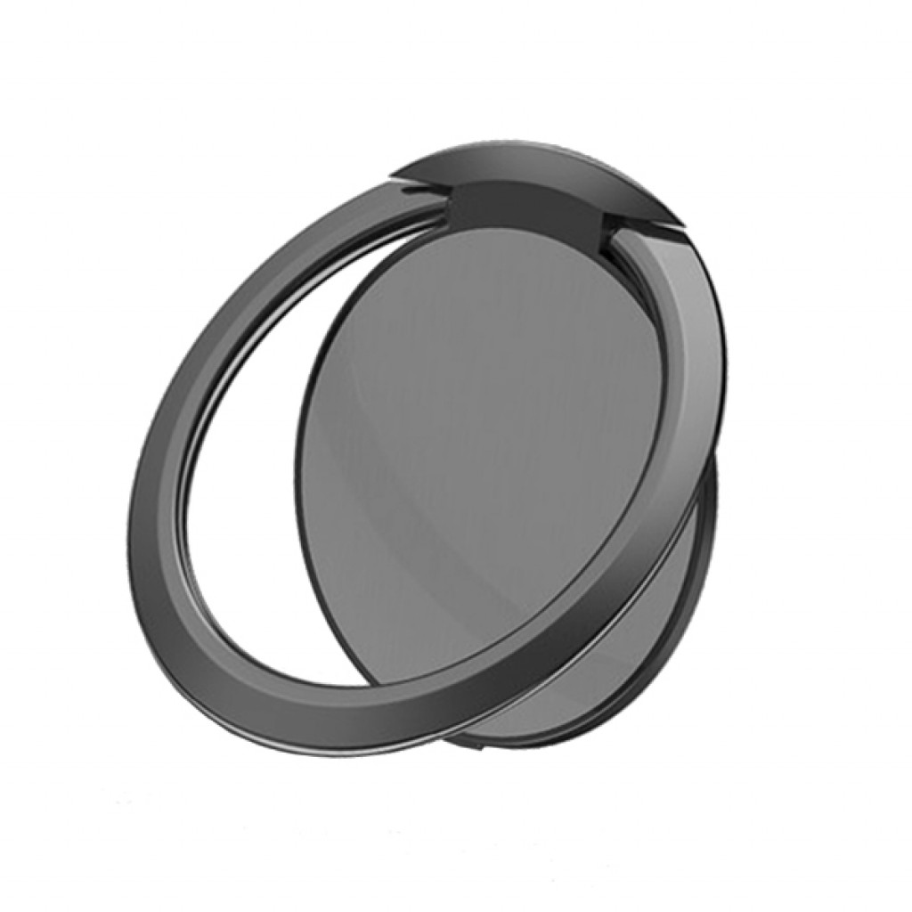مسكة خاتم للأجهزة الذكية, متوافق مع كل الجوالات والتابلت , متوافق مع الحوامل المغناطيسيه - اسود