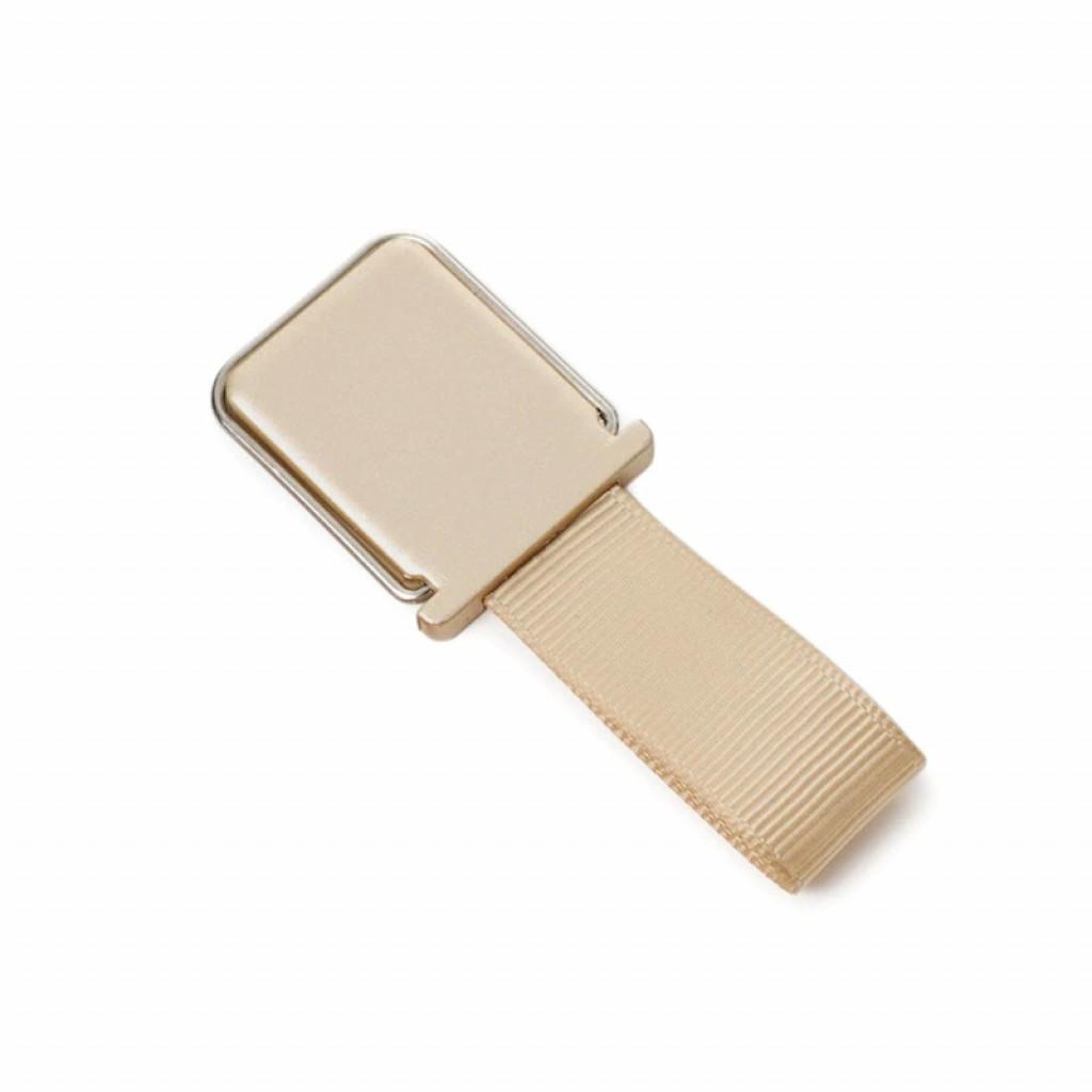 مسكة شريط حزام للأصبع للأجهزة الذكية, قاعدة بلاستيكية, متوافق مع كل الجوالات والتابلت - ذهبي
