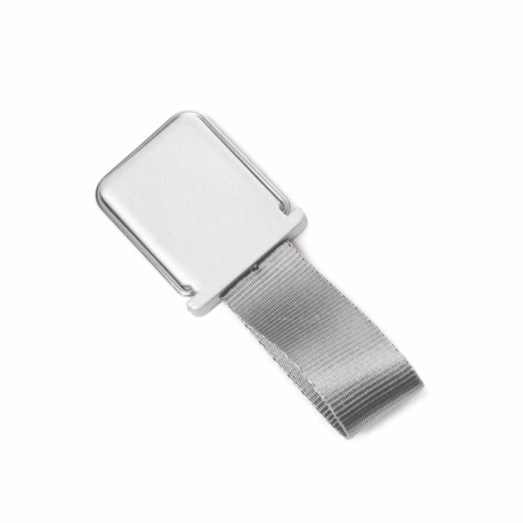 مسكة شريط حزام للأصبع للأجهزة الذكية, قاعدة بلاستيكية, متوافق مع كل الجوالات والتابلت - فضي