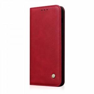 جراب هواوي هونر 8 إكس Huawei Honor 8x محفظة فليب جلد مع ستاند ومكان للبطاقات - احمر