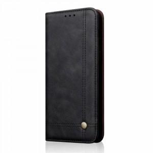 جراب هواوي هونر 8 إكس Huawei Honor 8x محفظة فليب جلد مع ستاند ومكان للبطاقات - اسود