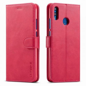 جراب هواوي هونر 8 إكس Huawei Honor 8x محفظة جلد مع مكان للبطاقات وستاند - وردي