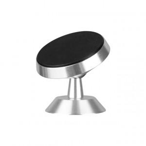 قاعدة مغناطيسية لطبلون السيارة أو الطاولة لتثبيت الجوال - فضي