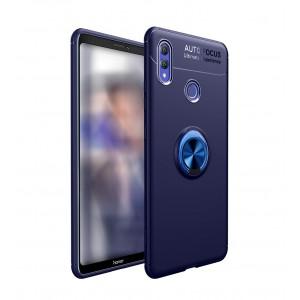 كفر هواوي هونر بلاي Huawei Honor Play مرن بالكامل مع مسكة خاتم - كحلي