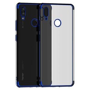 كفر هواوي هونر بلاي Huawei Honor Play مرن بالكامل شفاف بحدود - ازرق