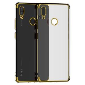 كفر هواوي هونر بلاي Huawei Honor Play مرن بالكامل شفاف بحدود - ذهبي
