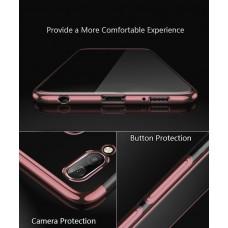 كفر هواوي هونر بلاي Huawei Honor Play مرن بالكامل شفاف بحدود - وردي