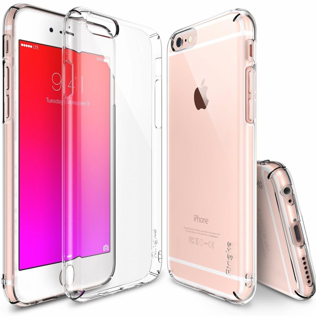 كفر ايفون 6 , ايفون 6 اس , iPhone 6/6s , ماركة رينجكي Ringke رفيع صلب - شفاف