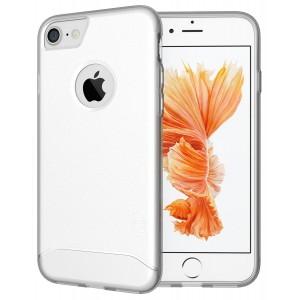 كفر ايفون 7 / ايفون 8 , iPhone 7 / iPhone 8 ماركة توديا TUDIA مرن بالكامل - شفاف ثلجي