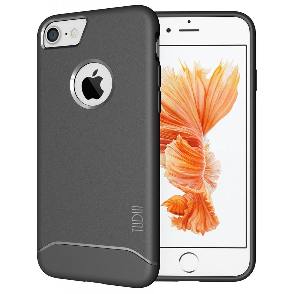 كفر ايفون 7 / ايفون 8 , iPhone 7 / iPhone 8 ماركة توديا TUDIA مرن بالكامل - رمادي