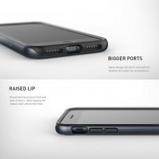 كفر ايفون 7 بلس/ ايفون 8 بلس , iPhone 7 plus / iPhone 8 plus ماركة كيسولوجي Caseology قطعتين كفر مرن اسود وإطار صلب - كحلي