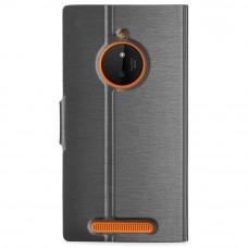 جراب نوكيا لوميا 830 Lumia 830 محفظة جلد مع مكان للبطاقات وستاند - اسود