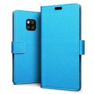 جراب هواوي مايت 20 برو Huawei Mate 20 Pro ماركة سليو SLEO محفظة جلد مع مكان للبطاقات وستاند - ازرق