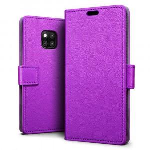 جراب هواوي مايت 20 برو Huawei Mate 20 Pro ماركة سليو SLEO محفظة جلد مع مكان للبطاقات وستاند - موف