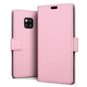 جراب هواوي مايت 20 برو Huawei Mate 20 Pro ماركة سليو SLEO محفظة جلد مع مكان للبطاقات وستاند - وردي