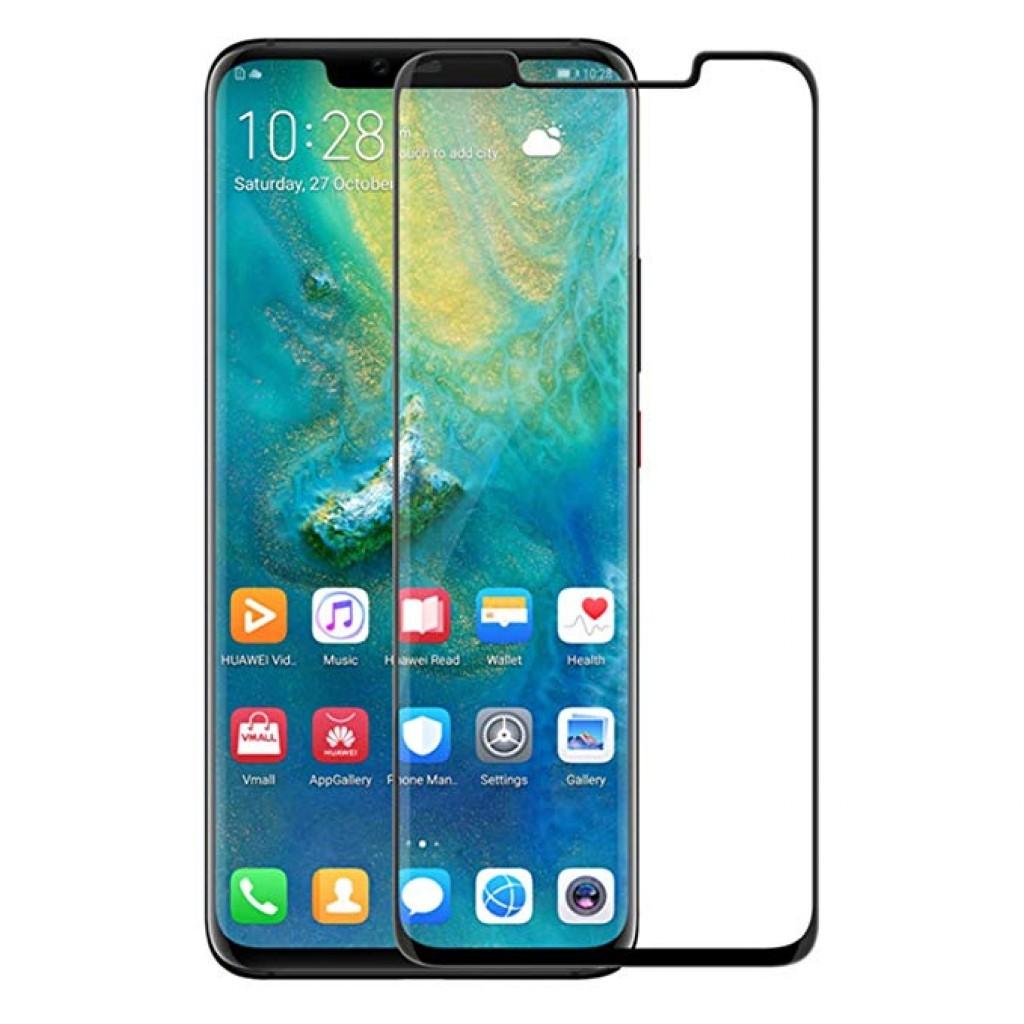 واقي شاشه زجاجي -استكر زجاج- هواوي مايت 20 برو Huawei Mate 20 Pro وضوح عالي مقاوم التبقع - لون الحواف اسود