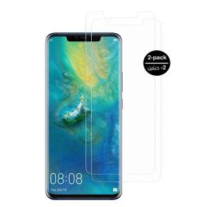 واقي شاشه زجاجي -استكر زجاج- هواوي مايت 20 برو Huawei Mate 20 Pro وضوح عالي مقاوم التبقع - 2 حبتين