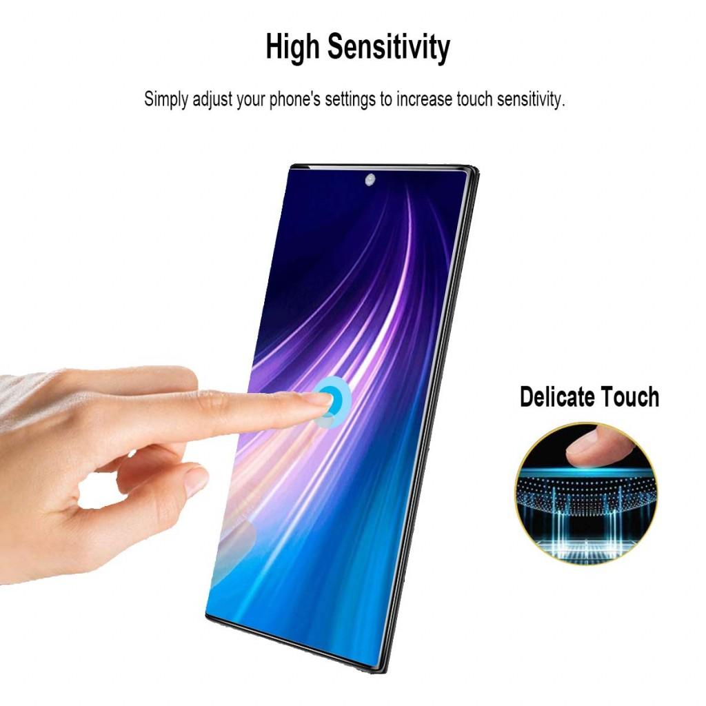 واقي شاشه زجاجي جالكسي نوت 10 Galaxy Note 10 استكر زجاج متوافق مع الجرابات - 2 حبتين