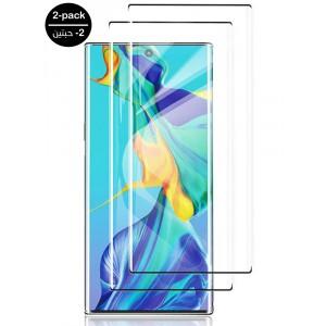 واقي شاشه زجاجي جالكسي نوت 10 بلس Galaxy Note 10 Plus استكر زجاج متوافق مع الجرابات - 2 حبتين