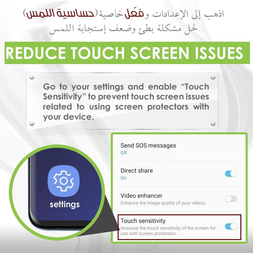 واقي شاشه زجاجي جالكسي نوت 10 بلس Galaxy Note 10 Plus استكر زجاج من الحافة للحافة - 2 حبتين