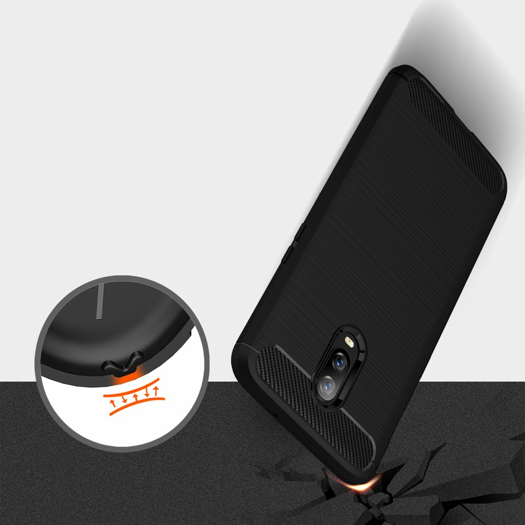 كفر ون بلس 7 / ون بلس 6 تي OnePlus 7 / OnePlus 6T مرن بالكامل - اسود