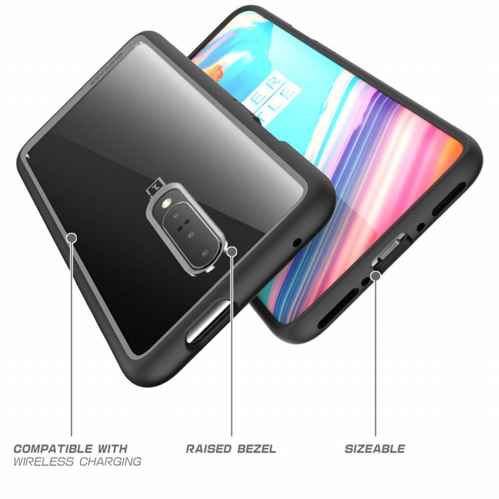 كفر ون بلس 7 برو OnePlus 7 Pro ماركة سبكيس Supcase صلب من الخلف وإطار مرن - شفاف و اسود