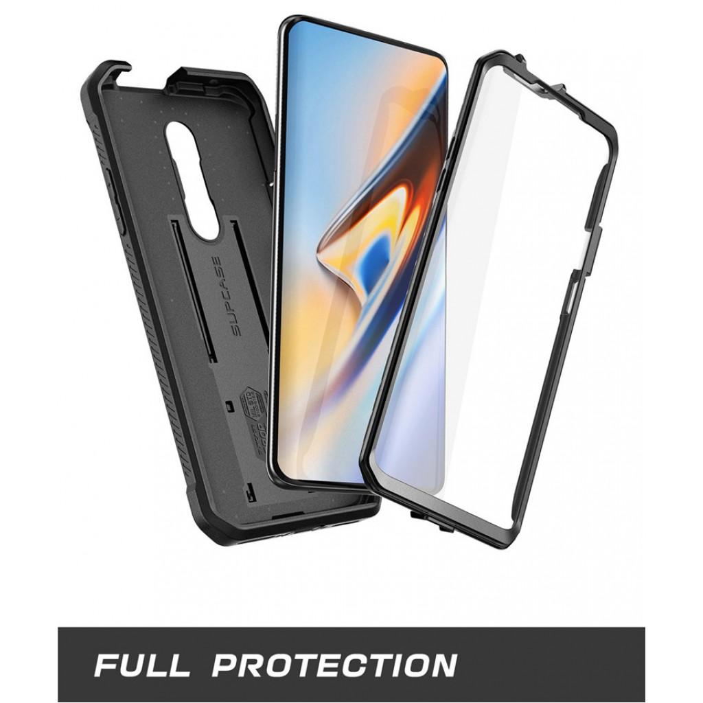 كفر ون بلس 7 برو OnePlus 7 Pro ماركة سبكيس Supcase كفر متين بغطاء أمامي للشاشة - اسود