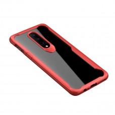 كفر ون بلس 7 برو OnePlus 7 Pro صلب من الخلف وإطار مرن متين - شفاف و احمر