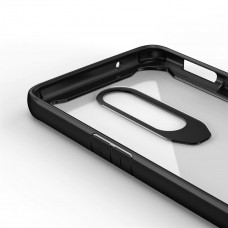 كفر ون بلس 7 برو OnePlus 7 Pro صلب من الخلف وإطار مرن متين - شفاف و اسود