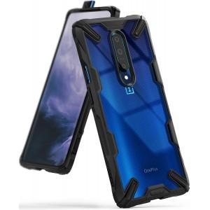 كفر ون بلس 7 برو OnePlus 7 Pro ماركة رينجكي Ringke صلب من الخلف وإطار مرن متين تصميم فيوجن إكس - اسود
